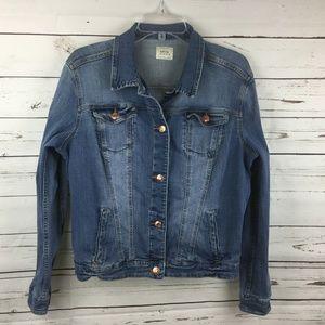 MNG Mango Jeans Women's Denim Jacket, Size L